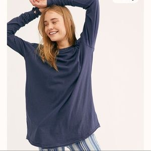 NWT Free People Arden Top/ Grey/ Size XL